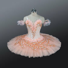 "Professional Peach Pink Lace Platter Ballet Tutu ""Peach Fairy""  Custom/MTO YAGP"