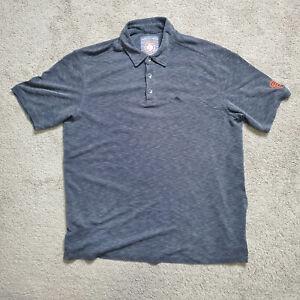Tommy Bahama Baseball San Francisco Giants Mens Heather Gray Polo Shirt Size Lrg