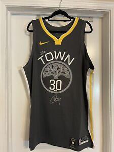 Stephen Curry Signed Warriors Nike NBA Authentic Vaporknit Jersey Fanatics Auto