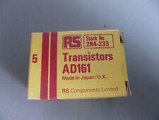 Box of 5pcs RS Radiospares AD161 PNP Germanium power transistors 294-233