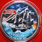 "Cook Islands 1 Dollar 2020 Silber 1 Oz #F4639 ""Bounty"" ST-BU Colored COA Nur 999"