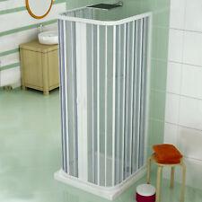 Box doccia 3 lati apertura a soffietto centrale 70x90x70 cm riducibile in pvc ac