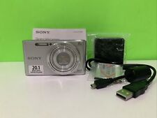 Sony Cyber-shot DSC-W800 20.1 MP Compact Digital Camera - Silver) Good Condition