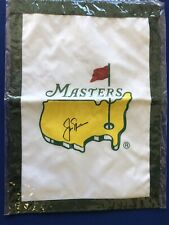 Jack Nicklaus signed Masters Golf Flag PGA US Open Tiger Woods auto