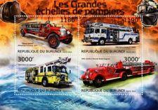 Fire Engine Apparatus Truck / Pierce Arrow Vehicle Stamp Sheet #1 (2012 Burundi)