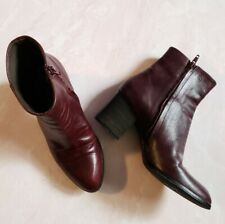 Coclico Leather ankle zip boots oxblood 37.5