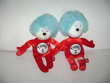 UNIVERSAL STUDIOS LOT of 2 DR. SEUSS THING 1 & 2 CAT PLUSH TOY STUFFED 12""