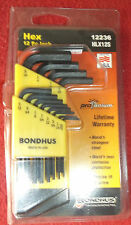 Bondhus 12236 HLX12S Hex Key 12 Piece Imperial Allen Wrench Set