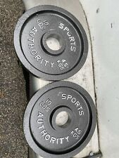 """Two 10lb Olympic 2"""" weight Plates"""