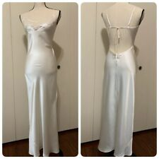 New victoria secret  Bride nightgown Small Lux Lace Long Ivory Silk Sexy