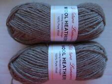 Filatura Lanarota  Wool Heathers 100% wool yarn, Taupe, lot of 2 (104 yds ea)