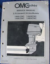 Omc Sea Drive 2.5 & 2.6 Litre Models Service Manual(1981)