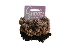 6 Goody Ouchless Looped Ribbon Scrunchies Shades of Brown Hard To Find