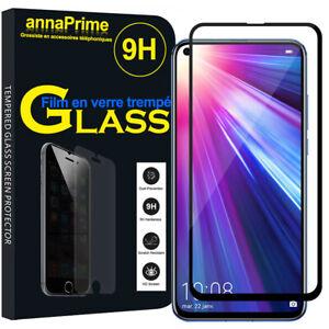"""Vitre Film Verre Trempe Protecteur d'écran NOIR Huawei Honor View 20 6.4"""""""