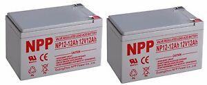 NPP 12V 12 Ah Rechargeable UPS Battery For APC SUVS650 BP1000 RBC6  F2 / (2pcs)