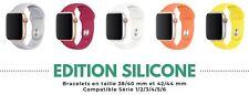 Bracelet silicone pour Apple Watch Série 1 2 3 4 5 6 - 38 / 40 & 42 / 44 mm