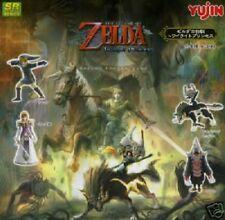 Yujin Legend of Zelda Twilight Princess Gashapon Link Figure Set of 4