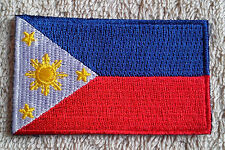THE PHILIPPINES FLAG PATCH Embroidered Badge Iron Sew on 4.5cm x 6cm Pilipinas