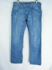 LEVIS 514 Straight Leg Blue Denim Jeans Men's Size 33x32