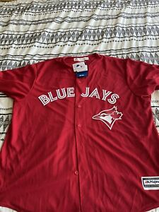 Toronto Blue Jays Canada Day Cool Base Jersey Men's 2XL 100% Authentic w/Tags