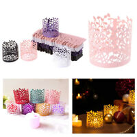 50pcs Laser Cut Tea Candle Light Paper Holder Lampshade Party Table Decorations