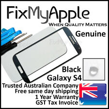 Samsung Galaxy S4 Genuine i9500 i9505 Black Front Glass Screen Lens Replacement