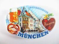 München Hofbräuhaus Munich Stone Magnet Poly Relief 8 cm Souvenir Germany