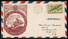 US 1948 Dedication Idlewild Airport Aviation Used New York Cover wwh31071