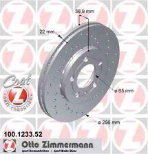 Disque de frein avant ZIMMERMANN PERCE 100.1233.52 VW BORA 1J2 1.6 101 102ch