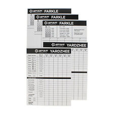 Yard Dice Laminated Score Cards Large 5pk Dice Game Sheets Point Pads