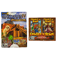LOT OF 2: Mysteries IV PC DVD-ROM  & Cradle of Rome Collection Win/Mac CD-ROM