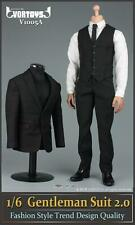 """VORTOYS 1/6 Scale Black Gentleman Suit 2.0 V1005A Fit 12"""" Male Figure Model"""