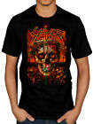 Official Slayer Crowned Skull T-Shirt World Painted Blood Hell Awaits Ozzfest