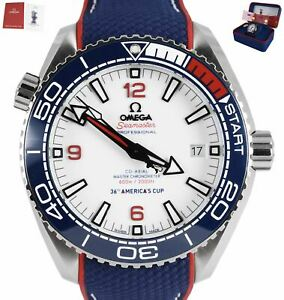 NEW 2021 Omega Seamaster Planet Ocean AMERICAS CUP White 43mm 215.32.43.21.04.00