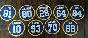 Minnesota Vikings Jersey Magnets: Chris Carter, Adrian Peterson,Tarkenton Randle