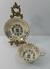 Paragon Canada Coat of Arms Emblems Cup and Saucer Fine Bone China Made England