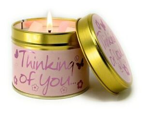 Thinking Of You Brand New Lily Flame Tin Candle- FREE P&P