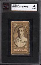 1912 C-46 Imperial Tobacco BASEBALL card #31 BAYARD SHARPE KSA 4 VG-EX BUFFALO