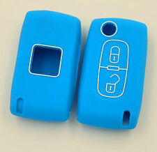 SILICONE COQUE CLE PILP PEUGEOT 406, 407, 408, 307, 207,107 2 BOUTONS
