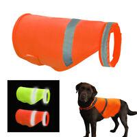 Breathable High Visibility Dog Jacket Vest Safety Walking Coat Hi Vis Viz