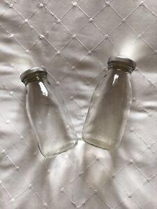 2 Mini Milk Bottles