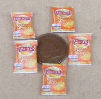 1:12 Scale 5 Empty Packets of Crisps Dolls House Miniature Pub Food Chips Snacks