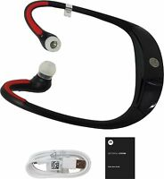Motorola S10-HD Sound Wireless Bluetooth Stereo Music Headphones Black Red New