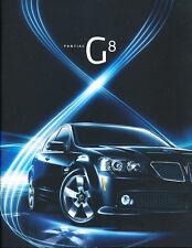 2008 Pontiac G8 and GT 32-page Original Car Sales Brochure Catalog - Holden