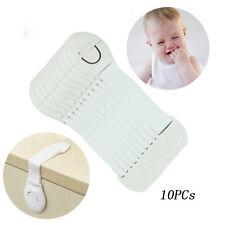 10Pcs Cabinet Door Drawers Safety Plastic Locks Lengthened Bendy Child Baby Hot