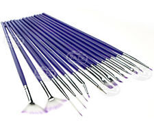 New Beauty Choices Nail Art Design Brush Set Painting Pen 15 Pieces Purple