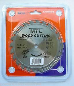 150mm MTL Brand TCT Circular Saw Blade Thin Kerf 4 Ryobi RWSL180 Cordless Saw