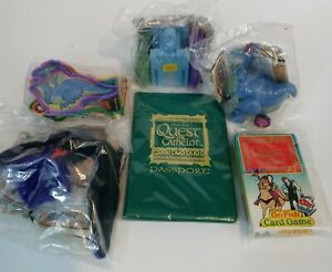 """Wendy's Kids Meal Toys """"Quest For Camelot"""" Complete Set 1998 Dragon Castle"""