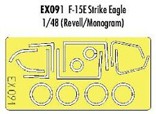 Eduard 1/48 F-15E Strike Eagle canopy frame /wheels paint mask for Revell EX091