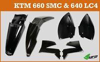 KTM LC4 640 2004 - 2007  UFO Motocross Plastic Kit Black
